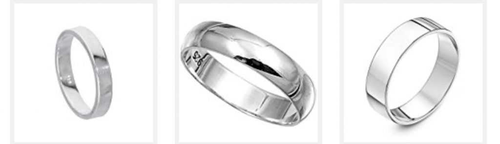 Buy large silver rings at Ringmania