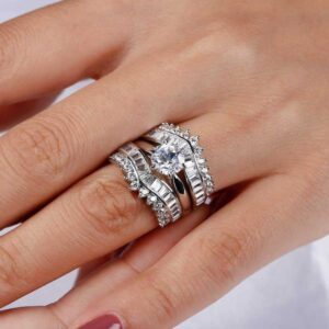 Getting married on a budget with this 3 piece ring set for less than 150 US Dollars
