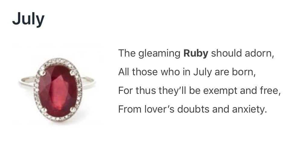 Ruby - The July Birthstone