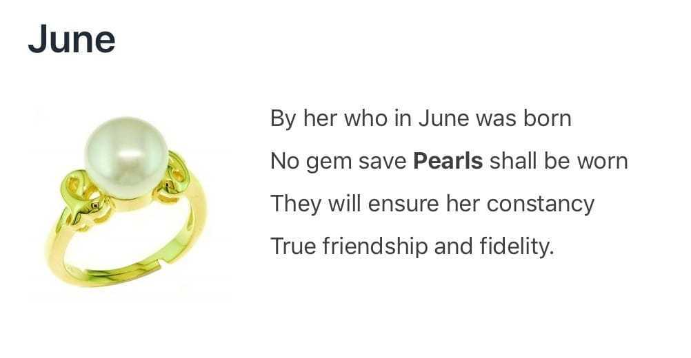 Pearl - The June Birthstone